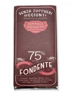 Tavoletta di cioccolato fondente senza zuccheri aggiunti